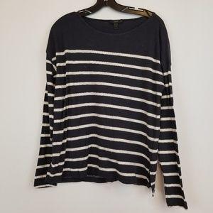 J. Crew Deck Striped T-shirt top size Medium